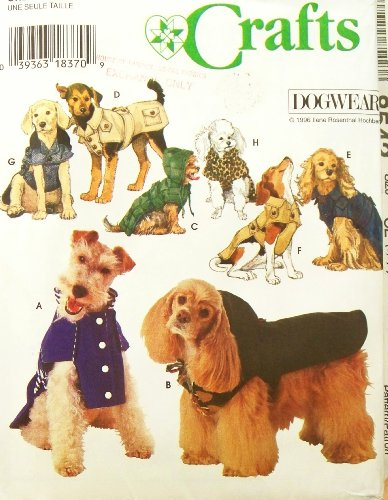 OOP Simplicity Dog Wear Pattern 9850. Coats for Dogs W/14-16