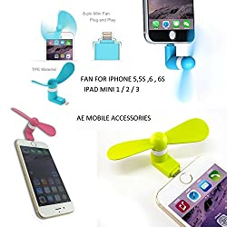 AE (TM) Smallest Mobile Fan Powered By OTG Enabled Android Smart Phone & USB Dual Power Fan for Powerbank (ORANGE)
