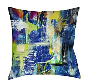 Square Throw Pillow, 18-Inch, Spiritual Graffiti: Home & Kitchen