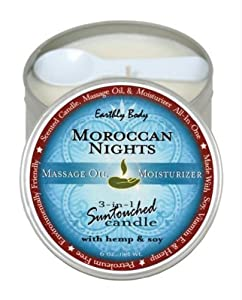 Earthly Body Round Candles, Morroccan Nights, 6.8-Ounce by Earthly Body