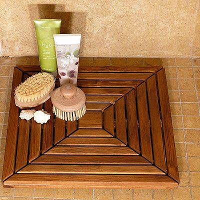 Infinita - Infinita Le Spa Teak Model Focus Shower Mat Oiled Finish