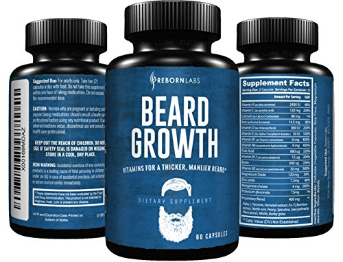 Beard-Growth-Supplement-with-Vitamins-for-a-Fuller-Longer-Thicker-Beard-Also-Promotes-Faster-Facial-Hair-Growth-Natural-Complex-with-Biotin-for-Healthy-Strong-Hair-60-Capsules