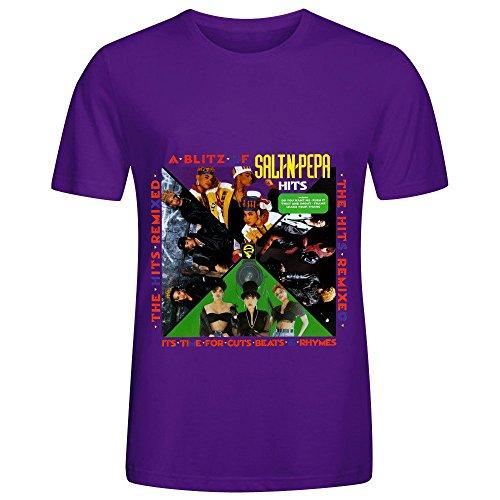 Salt N Pepa A Blitz Of Salt N Pepa Hits The Hits Remixed Tour Soundtrack Mens Crew Neck Slim Fit Tee Shirts Purple (Hit Lift Jack compare prices)