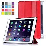 【全5色】IVSO オリジナルApple iPad Air 2 (2014) (Apple iPad Air 2 (2014) だけ 適用) 専用スマートケース 超薄型 最軽量 (レット)