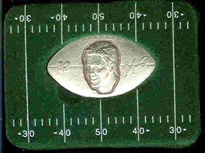 "1996 Highland Mint ""LIMITED EDITION"" NFL Football Collectible Football Shaped Coin Silver: Dan Marino - Miami Dolphins - Hall of Fame"