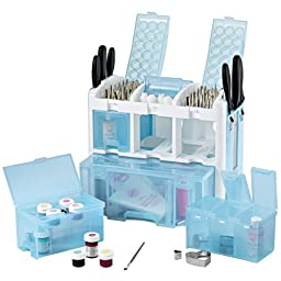Ultimate Tool Caddy Purple 3-Level Cake-Decorating Accessory Organizer