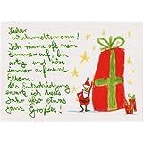 Witzige Weihnachtspostkarte was ganz Großes