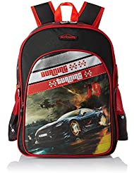 Simba 18 Inches Black And Red Children's Backpack (BTS-2038)