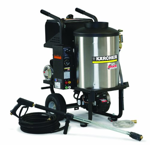 Shark Hpb-201107D 1,000 Psi 2.0 Gpm 120 Volt Electric Hot Water Commercial Series Pressure Washer