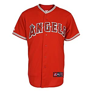 Jered Weaver Jersey: Adult 2010 Majestic Alternate Red Replica #36 Los Angeles Angels... by Majestic