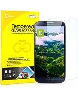 JETech� Galaxy S4 Film Protection en Verre tremp� �cran protecteur ultra r�sistant Glass Screen Protector pour Samsung Galaxy S4 i9500 S IV Galaxy SIV
