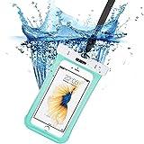 iphone7/6s 防水ケース, ESR IPX8 防水力抜群 水、お湯、雪や埃等完璧にシャットアウト ストラップ付属 6センチ以下全機種対応(グリーン)