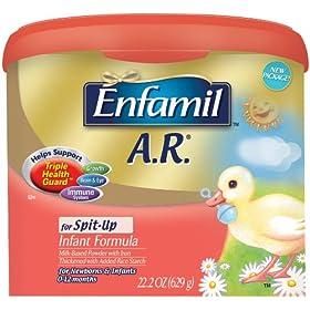 (超值)美赞臣Enfamil A.R. Infant Formula for Spit-up一阶段防吐防敏奶粉$23.99