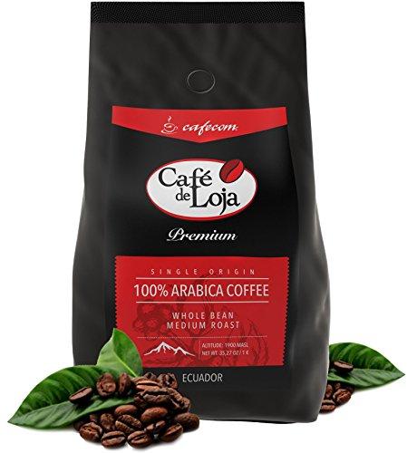 Medium / Dark Roast AWARD WINNER (2.2 lbs) Whole Bean Arabica Coffee -Café de Loja Premium- Roasted with Best Quality 100% Single Origin & Fresh Hand-picked Coffee Beans (Kuerig Breakfast Carafe compare prices)