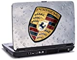 Porsche Badge - Lapjacks adhesive vinyl sticker to fit Dell Latitude D620/D630 laptops