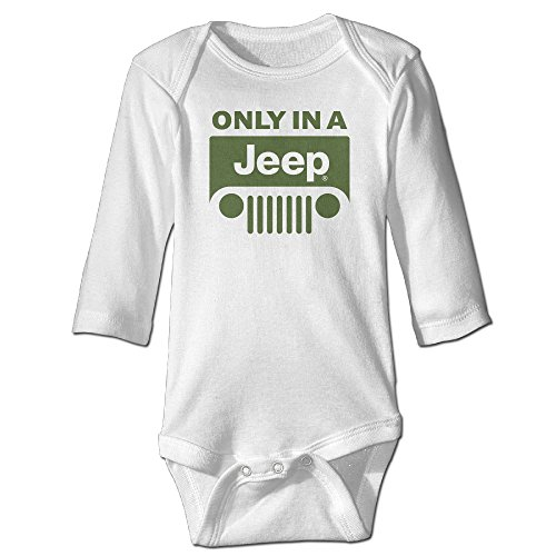 Only In Jeep Logo Toddler Baby Onesies Cute Baby Clothes Long Sleeves (6 Inch Lift Kit Jeep Jk compare prices)