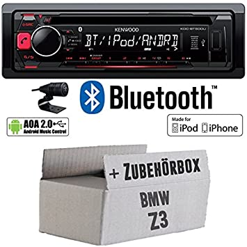 BMW Z3 - Kenwood KDC-BT500U - Bluetooth CD/MP3/USB Autoradio - Einbauset