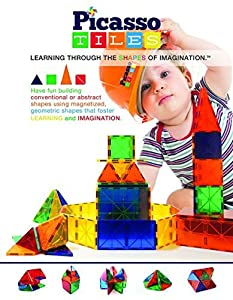 Picasso Tiles Clear 3d Magnetic Building Blocks, 60-piece by PicassoTiles