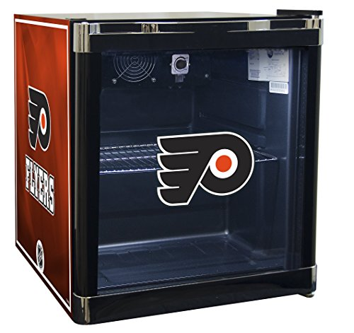 NHL Philadelphia Flyers Refrigerated Beverage Cooler, 1.8 cu. ft., Black Graphic (Refrigerated Ice Chest compare prices)