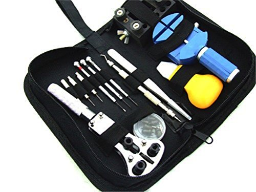 Watch tool 13 point set / watch case fixing clamp (black) plastic blue pin without customers description comes with genus / band adjustment plastic pins without with