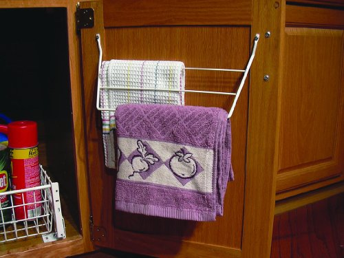 Rev-A-Shelf 563-32 WH 563 Series 3 Rack Dish Towel Holder, White