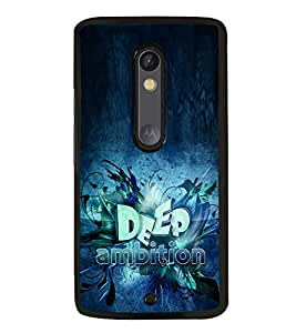 Fuson Premium 2D Back Case Cover Deep ambition With Multi Background Degined For Motoroal Moto X Play