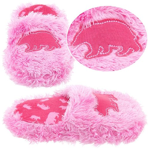 Cheap Lazy One Pink Fuzzy Bear Slippers for Girls (B005HEIN0I)