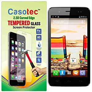 Casotec 2.5D Curved Edge Tempered Glass Screen Protector for Micromax Bolt A069