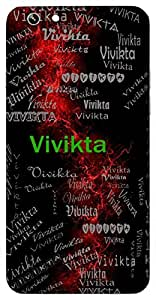 Vivikta (Distinguished; Solitary; Clear; Neat; Pure) Name & Sign Printed All over customize & Personalized!! Protective back cover for your Smart Phone : Samsung Galaxy E-7