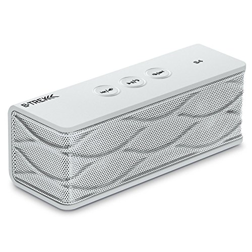 Sentey® Bluetooth Stereo Speaker B-Trek S4 (White) Up To 6 Hours - Built-In Mic For Hands Free Speakerphone - 10 Meter - 33 Foot Range - Rechargeable Lithium Ion Battery - Wireless - Aux Line In Allows Music Playback From Various Sources / Works For Iphon