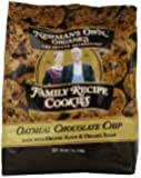 Newman's Own Organics Cookies, Chocolate Chip, 7 Ounce (Pack of 6)