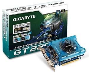 Gigabyte nVidia GeForce GT220 Grafikkarte (PCI-e, 1GB GDDR3 Speicher, HDMI, DVI, 1 GPU) Full Retail
