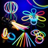 "8"" HotLite Brand Glowsticks Glow Stick Bracelets Mixed Colors (Tube of 100) Party Favor"