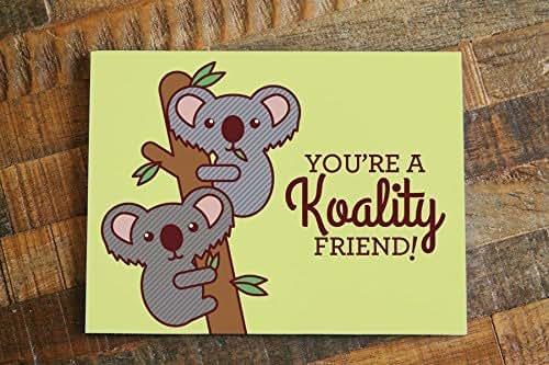 "Amazon.com: 1x Funny Koalas Friendship Card ""Koality Friend"" - pun"