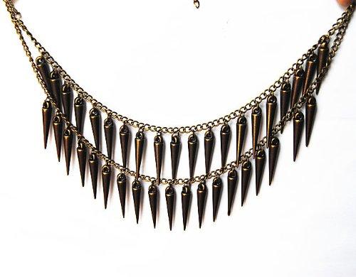 JA161 Retro Cone Spitze Gothic Halskette, Große Augen Ansteckend Schlenker Cone Spitze Halskette