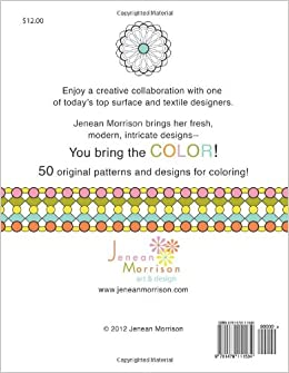 Pattern And Design Coloring Book Volume 1 Jenean