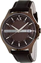 Armani Exchange Brown Dial Brown Ion-plated Mens Watch AX2123