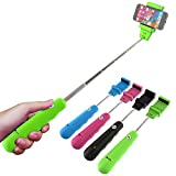 Huuman ZaZa Selfie Stick Extendable Self Portrait Monopod Pole with Bluetooth Remote Shutter Button - Adjustable Clip Fits Most Smart Phones and Cameras - Iphone, Samsung, IOS, Android - BEST Electronic Travel, Photo, Tripod/Monopods Accessories - Case Included- 2 Year Warranty