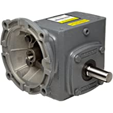 "Boston Gear F71815KB5J Right Angle Gearbox, NEMA 56C Flange Input, Left Output, 15:1 Ratio, 1.75"" Center Distance, 1.13 HP and 552 in-lbs Output Torque at 1750 RPM"