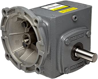 "Boston Gear F71850KB5J Right Angle Gearbox, NEMA 56C Flange Input, Left Output, 50:1 Ratio, 1.75"" Center Distance, .44 HP and 573 in-lbs Output Torque at 1750 RPM"