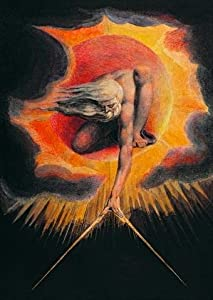 The Ancient of Days by William Blake Wall Decal - 18 Inches H x 13 Inches W - Peel and Stick Removable Graphic