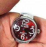 Amateras指輪時計凸型リングウォッチシンプル大きな数字 文字盤ホワイトフェースシルバー時計指輪贈答レディースメンズゴシックレトロコレクションリングウォッチアクセサリー凸型【MT395】(ホワイト)