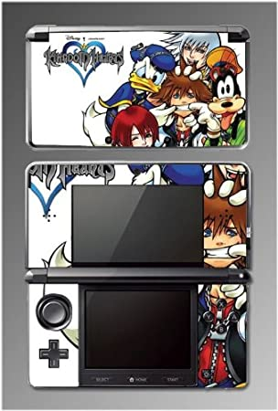 Kingdom Hearts Mickey Sora Keyblade Vinyl RPG Game Vinyl Decal Cover Skin Protector Kit 2 for Nintendo 3DS
