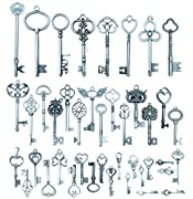 42pcs Mixed Vintage Skeleton Keys, Salome Idea 42 Styles Key, Each 1piece
