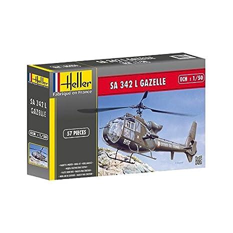 Heller - 80486 - Maquette - Aviation - Hélice - Sa 342 Gazelle - 57 Pièces