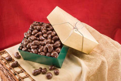Chocolate Covered Cashews Gift Box