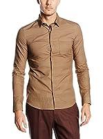 Belstaff Camisa Hombre Blackburn Knurling Print (Marrón Claro)