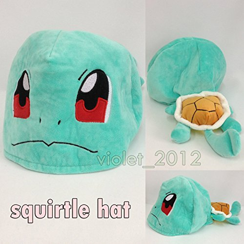 [Squirtle Nintendo Pokemon Hat Plush Soft Toy Character Cloth Cosplay Costume Cap] (Pokemon Character Costumes)