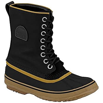 Sorel The 1964 Premium CVS Boot. Waterproof boot with metal eyelets; rubber shell; full grain leather and textile upper; removable felt inner boot; contrast laces, sole, and trim detail; 73% polyester fiber, 27% polypropylene. By Sorel.