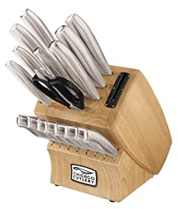 Chicago Cutlery 18-Piece Insignia Steel Knife Set with Block and In-Block Sharpener by Chicago Cutlery